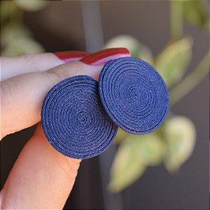 Brinco redondo Design Natural fios de algodão azul marinho BR 2046