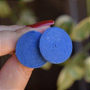 Brinco redondo Design Natural fios de algodão azul escuro BR 2046