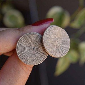 Brinco redondo Design Natural fios de algodão palha BR 2046