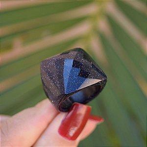 Anel pedra natural estrela semijoia