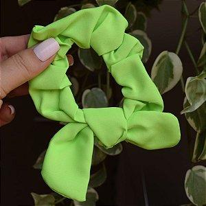 Rabicó fru fru tecido verde neon
