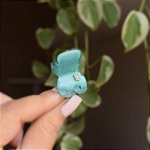 Piranha de cabelo Bianca acrilíco tie dye verde e azul 05 033