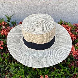 Chapéu praia palha natural