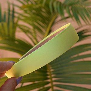 Tiara cetim verde limão