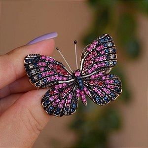 Broche magnético borboleta pink m