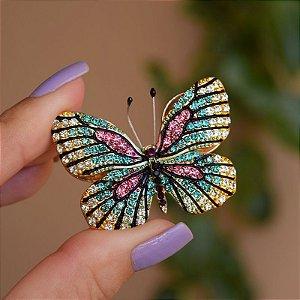 Broche magnético borboleta colorida m