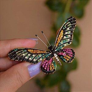 Broche magnético borboleta colorida g