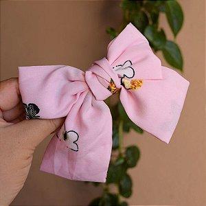 Presilha laço borboletas rosa