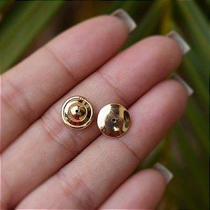 Tarraxa sutiã de orelha g ouro  par semijoia