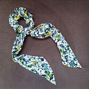 Elástico para cabelo scrunchie floral 560299
