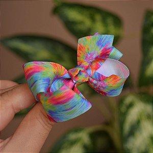 Presilha bico de pato infantil tie dye colorido