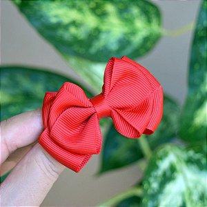Presilha bico de pato infantil laço vermelho