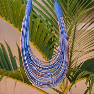 Colar Design Natural fios de algodão tricolor CO 1248