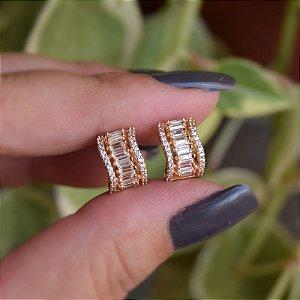 Piercing de encaixe par aros zircônia ouro semijoia 19k07068