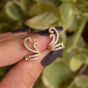 Piercing de encaixe par zircônia ouro semijoia 19k08030