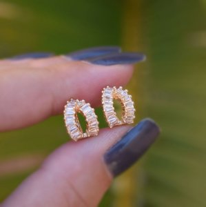 Piercing de encaixe par zircônia ouro semijoia 19k08027