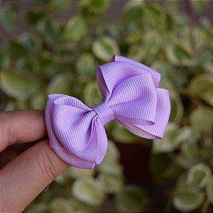 Presilha bico de pato infantil laço lilás