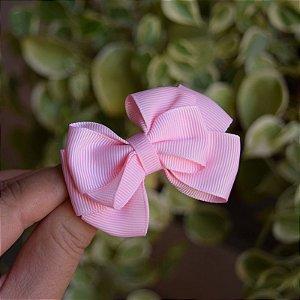 Presilha bico de pato infantil laço rosa bebê