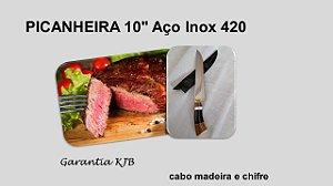 """Picanheira 10"""" Aço Inox 420"""