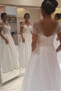 Vestido de Noiva Princesa Bucol Ombro a Ombro- ALEXANDRA