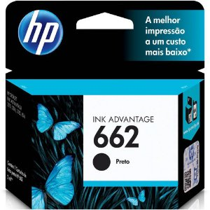 Cartucho de Tinta Original HP662 1516 3516 Preto 2ML