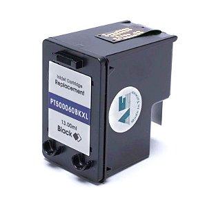 Cartucho de Tinta Compatível com HP 60XL D2530, D2545, D2560, D2660, D110A, F4210, F4240, F4280, F4440, F4480 Preto 13ML