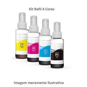 Kit Refil 4 Cores para Impressoras Epson - Compatível com T664