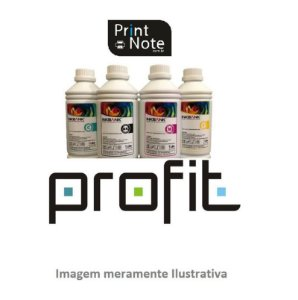 Refil de Tinta para HP Magenta 1LT 8727 9351 6656 6615 Corante Profit