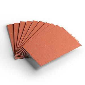 Pacote 10 folhas - Cartão Color Face - Laranja