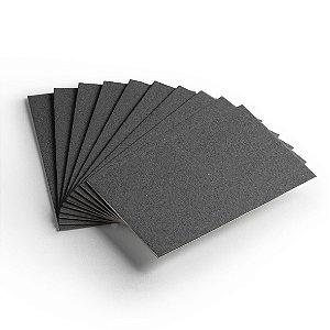Pacote 10 folhas - Cartão Color Face - Preto