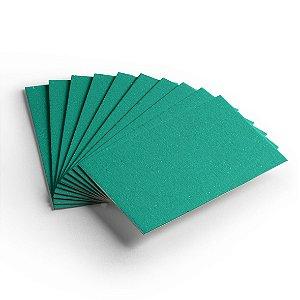 Pacote 10 folhas - Cartão Color Face - Verde