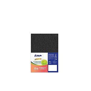 Cartão Preto H - Medida A4 - Pacote 10 unidades