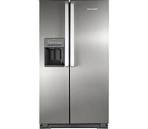 Geladeira Brastemp Frost Free Side by Side 560 litros cor Inox com Dispenser de Água e Gelo