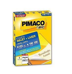 Etiqueta Adesiva InkJet Laser Carta 6185 C/100fls Pimaco