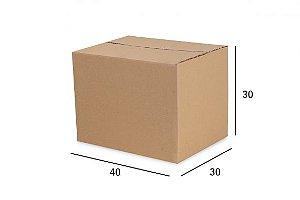 Caixa de Papelão para envio Correio  Kraft  40X30X30