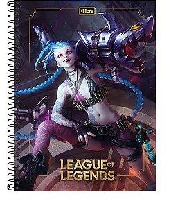 Caderno Espiral Universitário 10 Matérias League off Legends 160 Folhas Sortido