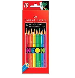 Lápis de Cor 10 Cores Neon Faber Castell
