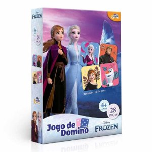 Jogo de Dominó Frozen 28 peças Toyster