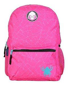 Mochila Escolar Feminina Ghost Spider Pink Oficial Marvel