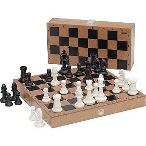 Jogo de Xadrez Com estojo de Madeira R.8414 Stalo