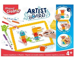 Kit Creativo Artist Board Monstro Magnetico Maped Branco