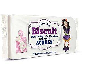 Massa de biscuit ou porcelana fria 500g Branco Acrilex