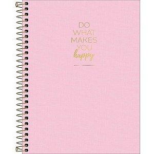 Caderno Colegial 10 Materias Happy Rosa 160fls Tilibra