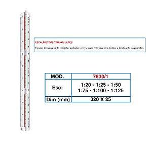 Escalímetro Triangular 30cm 7830/1 Trident