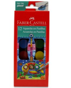 Aquarela Estojo Plástico 12 Cores 190012 Faber-Castell