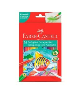 Lápis de Cor 36 cores Aquarelável Faber- Castell
