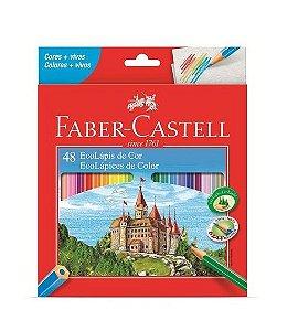 Lápis de Cor 48 Unidades Sextavado Faber-Castell