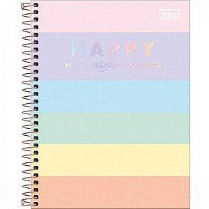 Caderno Colegial 1 Matéria Happy Color 80 fls Tilibra