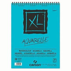 Bloco Papel Canson XL Aquarelle Branco A4 300g 30 Folhas