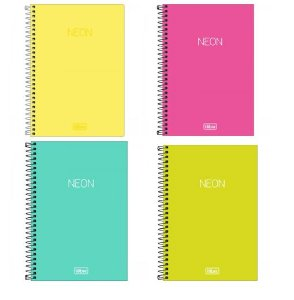 Caderno Espiral 1/4 Sem pauta Neon 80 Fls Tilibra